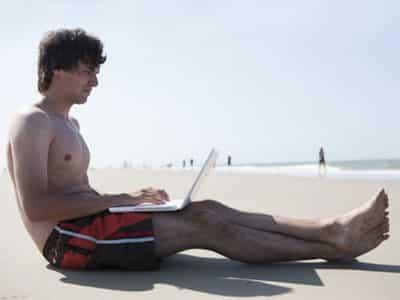 Arbeit im Urlaub