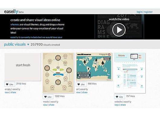 Infografiktool-easelly-Screenshot