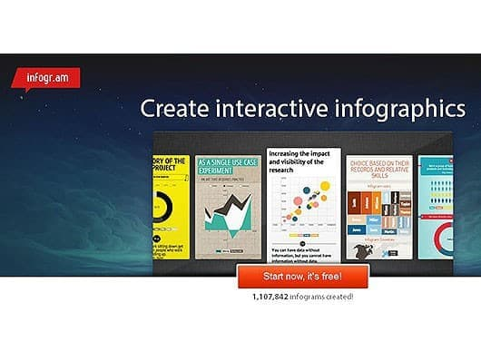 Infografiktool-infogram-Screenshot