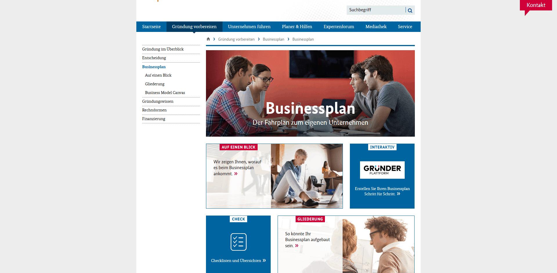 Businessplan_BMWi-Existenzgründungsportal