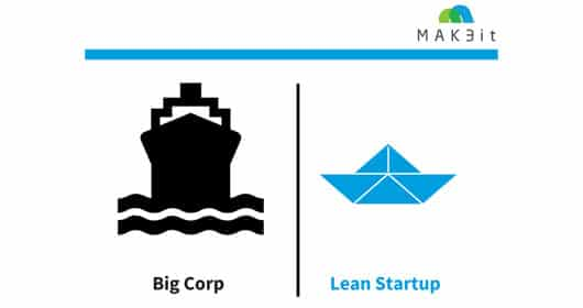 Große Firmen und Startups im Vergleich / © MAK3it