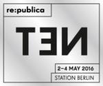 Logo der republica 2016 in Berlin