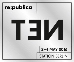 Logo der republica 2016 in Berlin