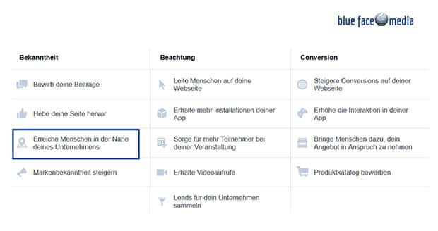 facebook-werbeziel-lokales-untrnehmen-staerken