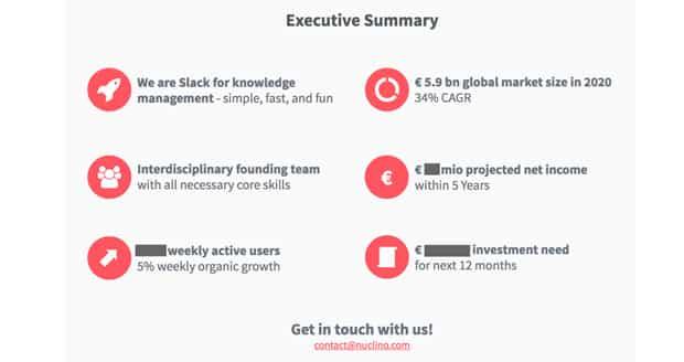 nuclino-startup-executive-summary