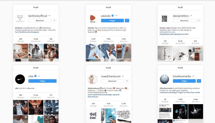 Screenshot Instagram Profile