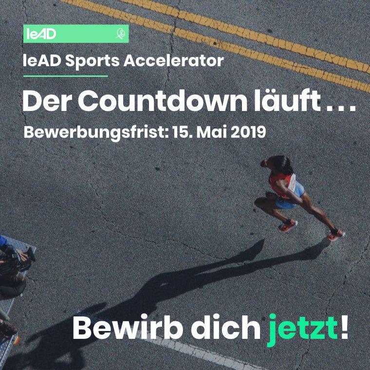 leAD Sports Accelerator – Banner Countdown Bewerbung