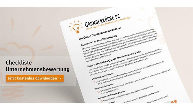 gruenderkueche-checkliste-unternehmen-bewerten
