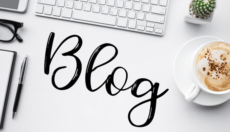 Blogging,blog concepts ideas with worktable.